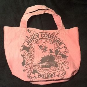 Juicy Couture pink canvas Holiday tote bag